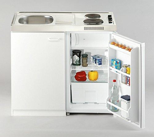 respekta Pantry 100 Miniküche Breite 100 cm mit Kühlschrank
