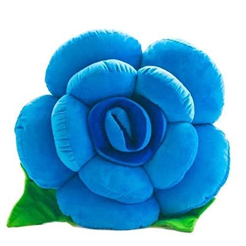 Yuhualiyi123 Valentinstag Kissen Kreative Mode-Plüsch-Spielzeug Hochzeit Dekoration Kissen Schlafen Weiches Gemütliches Kissen für Kinder/Familie/Freunde (Color : Blue, Size : 60cm)