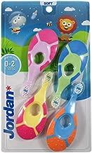 Jordan Step 1 Baby Toothbrush, 0-2 Years, Soft Bristles, BPA Free 4 Pack