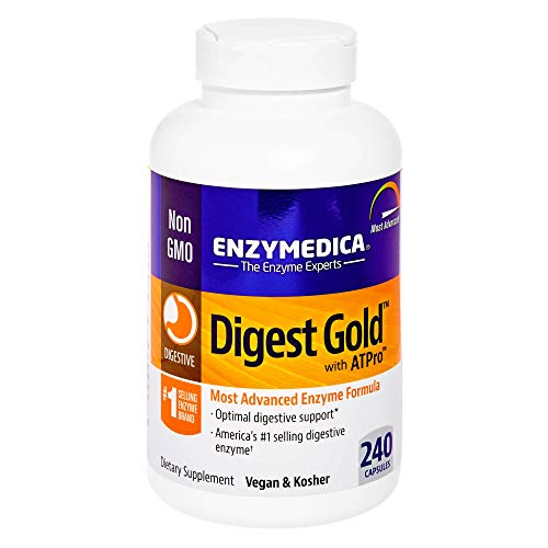 Enzymedica, Digest Gold + ATPro, Digestive Enzymes, 240 Capsules (FFP)