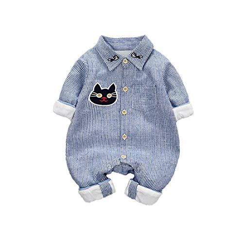DorkasDE Baby Strampler Neugeborene Kleinkinder Strampleranzug Overall Cartoon Jumpsuit Frühling Herbst Babykleidung