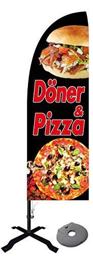 Beachflag Pizza und Döner -ca. 300 cm hoch- BMD077-K