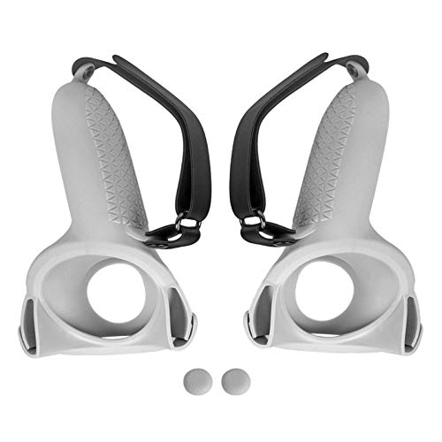 Doans Juego De Fundas para Oculus Quest 2 Juego De Mangos VR Funda De Agarre del Controlador Táctil Accesorios De Realidad Virtual Estuche Protector De Mangos Antideslizantes Well Made