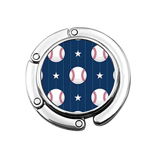 Béisbol Deporte patrón sin Costuras Lindo Gancho de suspensión para Monedero diseños únicos Almacenamiento de sección Plegable