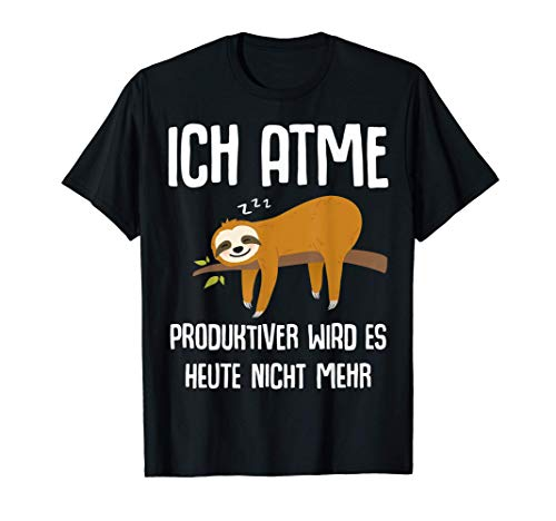Lustiger Faultier Spruch Mitarbeiter Arbeitskollege Geschenk T-Shirt