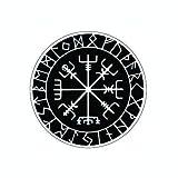MAMA STICKER Bumper White Vegvisir Viking Norse Rune Fear Talisman Amulet Odin Water Proof Tattoo Decal Symbol Sign Helmet Motorcycle Luggage Laptop Notebook Back Truck Van SUV Window Scrapbook