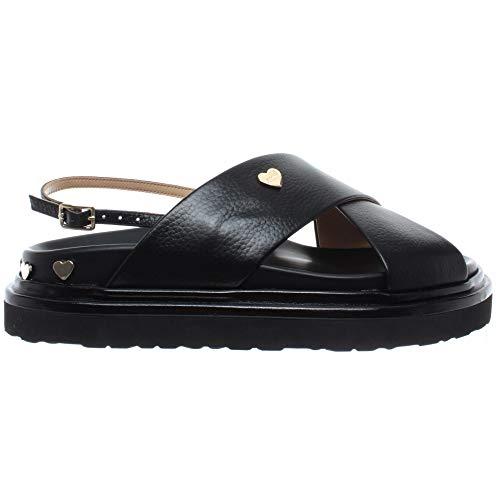 Love Moschino Damen Sandalen Schuhe JA16364 Birky Schwarz Leder Neu