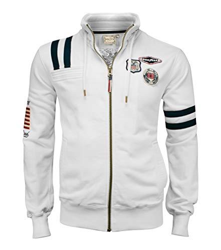 Goodyear Fashion Sweat Eagle zippé Homme L Ecru