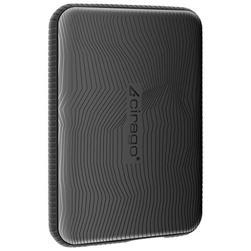 Cirago Slim Portable External Hard Drive, Drop Shock HDD- Type-C for PC, Mac, Desktop, Laptop, MacBook, Chromebook, Xbox One, Xbox 360, PS4(Black) (160GB)…