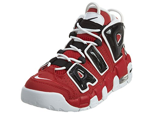Nike 415082-600 Air More Uptempo (GS) Bambino, Varsity Red/White-Black, EU 38.5