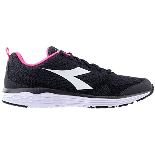 Diadora Womens Flamingo Lace Up Sneakers Shoes Casual - Black - Size 5.5 B