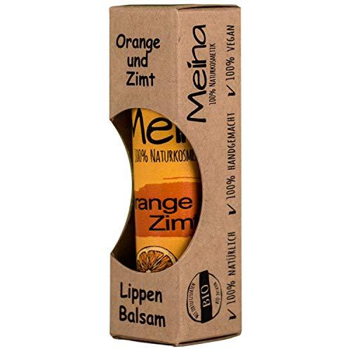 Meina Naturkosmetik - Natürlicher Lippenbalsam mit Orange und Zimt (1 x 5 g) Vegan Lip Balm gegen...