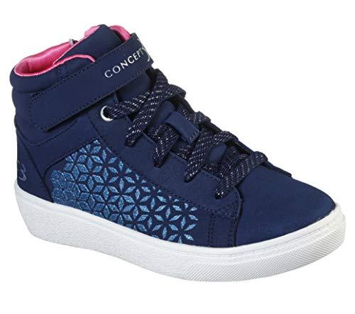 Concept 3 by Skechers Girls' Splender Lace-up High Top Sneaker, Navy/Pink, 1 Medium US Little Kid