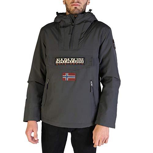 Napapijri Mannen RAINFOREST POCKET Jacket, Grijs (Dark Grey Solid 198), X-Large