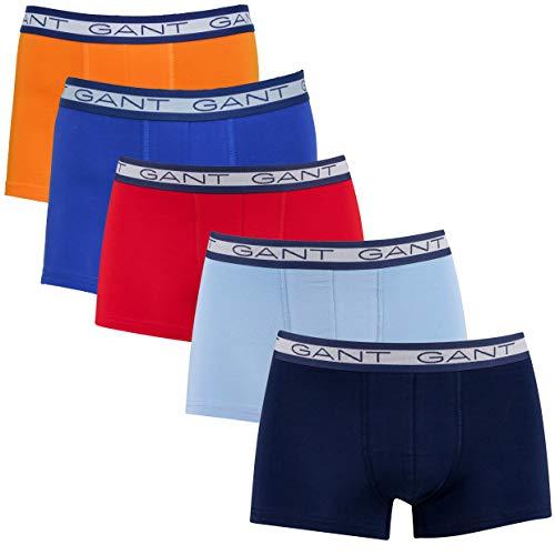 GANT Herren Basic Trunk 5-Pack Boxershorts, Russet ORANGE, S