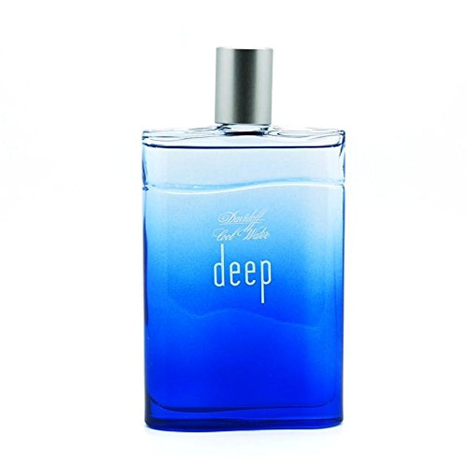 蒸発虎Cool Water Deep (クールウォーター ディープ)3.4 oz (100ml) Aftershave Splash Unboxed (箱なし)by Davidoff for Men