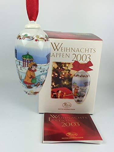Hutschenreuther Weihnachtszapfen 2003, Anhänger, Baumanhänger, Baumschmuck, Weihnachten, Porzellanzapfen