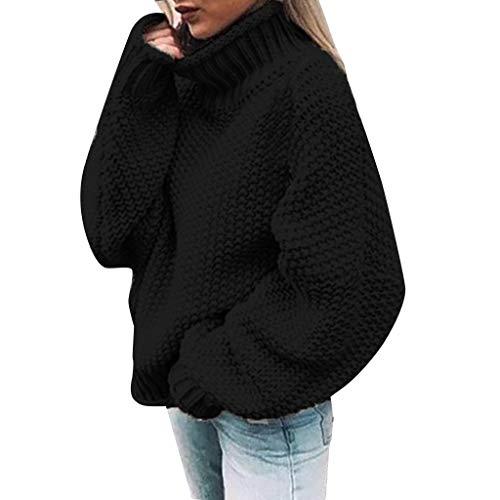 Eaylis Damen Strickpullover Pullover Casual Winter Sweater Sweatshirt Winter,Langarm LäSsig Dicke Wolle Einfarbig Pullover Top Farbe: Grau GrüN Lila Weiß Schwarz Orange Beige