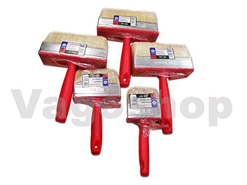 6 x Flächenstreicher Gr 3 x 12cm Pinsel Streicher Flachpinsel Malerpinsel Deckenbürste Lack