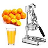 Zulay Kitchen Professional Citrus Juicer - Chrome Finish Manual Citrus Press and Orange Squeezer -...