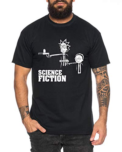 RM Fiction T-Shirt pour Homme Morty dan Sanchez Mr Rick Meeseeks Harmon, Farbe2:Noir, Größe2:X-Large