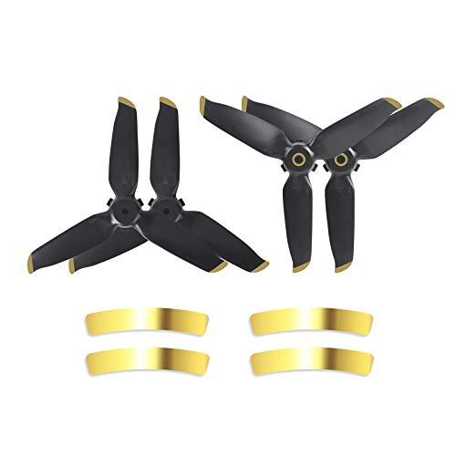 Fututech Hélice para DJI FPV Pieza de repuesto para DJI FPV, accesorio para Drone, Vol Silencioso (Gold Two Pars)