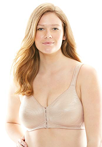 Playtex Womens 18 Hour Posture Boost Wirefree Bra (USE525) -Nude -44D