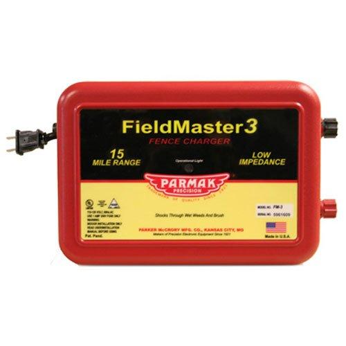 Parmak Fieldmaster 2 Low Impedance 110/120 Volt 15 Mile Range Electric Fence Charger FM3