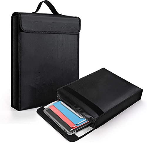 Bolsa ignífuga para documentos, bolsa ignífuga e impermeable, bolsa ignífuga para documentos, pasaporte, archivo bancario, objetos de valor (28 x 38 cm)