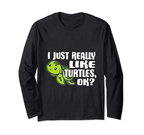 I Just Really Like Turtles Ok Disfraz De Tortuga Marina Manga Larga