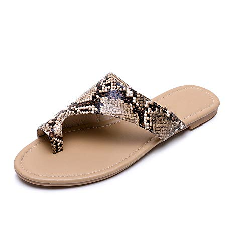 Sandalias Summer Lady Snake Slipper Wild Clip Toe