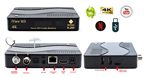 NEW Smart TV 4K Android Combo Re...