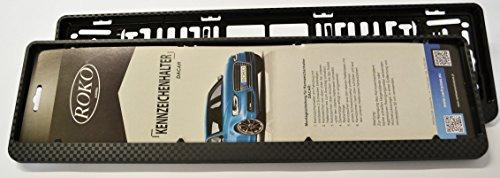 2 Stück Kennzeichenhalter, 3D Carbon Look, nur für ÖSTERREICHISCHE Kennzeichen geeignet
