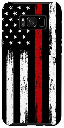 Galaxy S8+ Fireman USA Flag Phone Case Thin Red Line US Firefighter Case