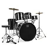 Best Choice Products 5-Piece Full Size Complete Adult Drum Set w/ Cymbal Stands, Stool, Drum Pedal, Sticks, Floor Tom...