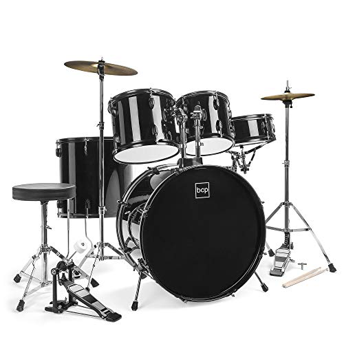 Best Choice Products 5-Piece Complete Full Size Adult Drum Set | Includes Cymbals, Stands, Stool,...
