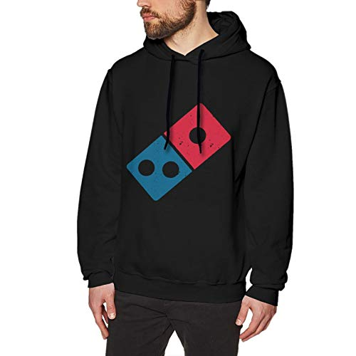MKDIJIUWL Dominos Pizza Logo Sudadera con capucha para hombre