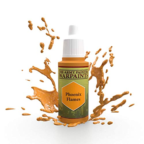 The Army Painter Phoenix Flames Warpaint - Acrylic Non-Toxic Heavily Pigmented Water Based Paint for Tabletop Roleplaying, Boardgames, and Wargames Miniature Model Painting