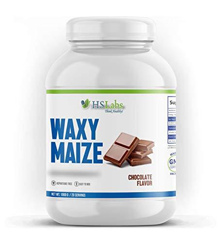 HSLabs WAXY MAIZE Starch Wachsmaisstärke Weightgainer Masseaufbau Muskelaufbau Langsam Freigesetzte Kohlenhydrate Weight Masse Gainer (Chocolate 1000g)