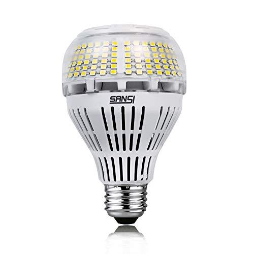 SANSI Ampoules LED E27, 30 W équivalent à 450W - 500W Culot halogène 5000 lm, Blanche Froide 5000K, Angle de rotation à 270 °, Not Dimmable, pour Kitchen, Chambre à coucher, salle de classe, etc.