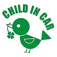 imoninn CHILD in car ステッカー 【パッケージ版】 No.02 コトリさん (緑色)