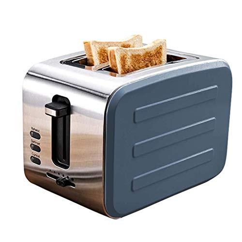 Bread maker 900W Grille-Pain, en Acier Inoxydable Spit Driver, Maison 2 Tranche Petit déjeuner Machine à Pain Machine,Blue
