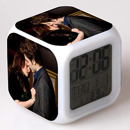 Yyoutop Crepúsculo Despertador de Dibujos Animados Juguetes para niños Reloj led Reloj Despertador Digital desesperado Reloj Despertador con luz electrónica