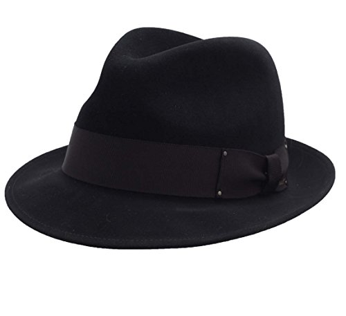 Bailey of Hollywood - Chapeau Fedora Feutre Homme Delbert - Taille L
