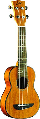EKO Guitars Ukelele soprano acústico y eléctrico Duo, color caoba (06201016)