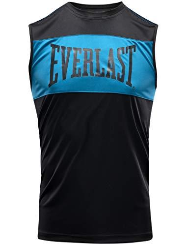 Everlast Jab - Camiseta de tirantes para boxeo, color negro y azul