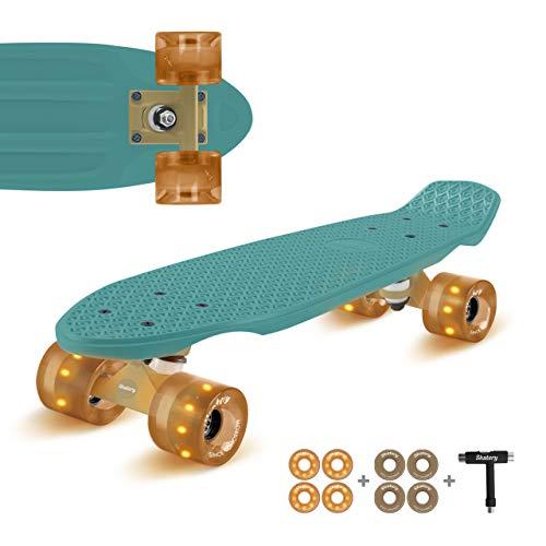 Skatery Mini Cruiser by fun pro (grün Gold)