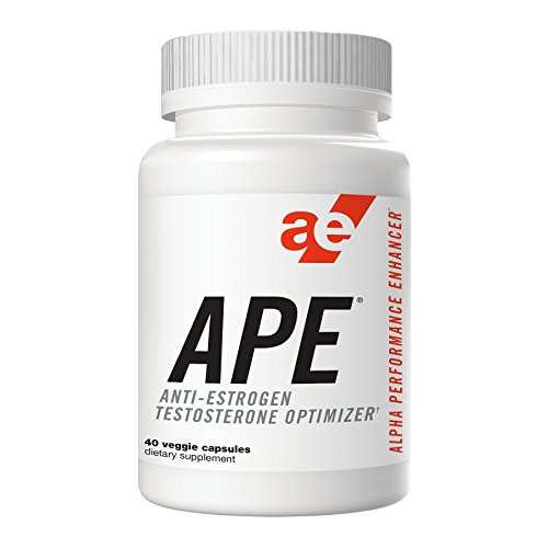 APE Testosterone Booster, Optimizer & Anti-Estrogen - Maximize Testosterone Production, Enhance Nitric Oxide, and Increase Muscular Endurance & Fullness, Stamina, Energy, & Strength - 40 Count