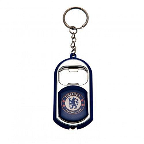 Chelsea FC - Porte-clé décapsuleur et lampe torche (Taille unique) (Bleu)