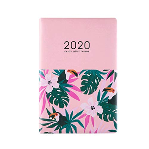 HYAN 2020 Notebook Diario Planificación Horario Fresca pequeña Simple Notebook Eficiencia planificación Diaria Engrosamiento Manual A5 Manual (Color : D)